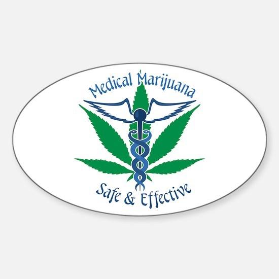 Medical Marijuana Safe & Effective Decal