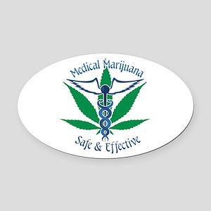 Medical Marijuana Safe & Effective Oval Car Magnet