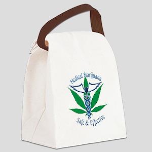 Medical Marijuana Safe & Effective Canvas Lunch Ba