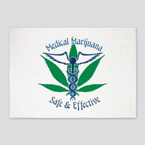 Medical Marijuana Safe & Effective 5'x7'Area Rug