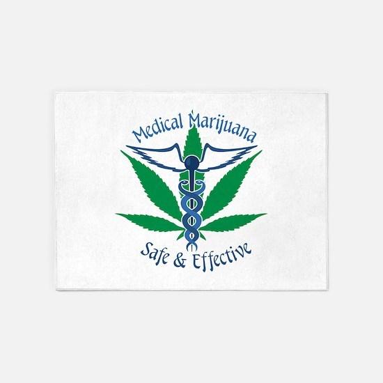 Medical Marijuana Safe & Effective 5'x7'Area Rug