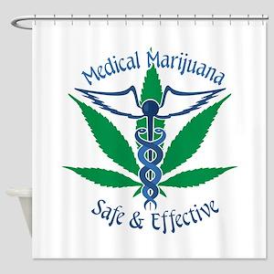 Medical Marijuana Safe & Effective Shower Curtain