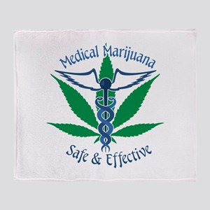Medical Marijuana Safe & Effective Throw Blanket