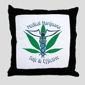 Medical Marijuana Safe & Effective Throw Pillow