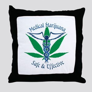 Medical Marijuana Safe & Effective Throw Pillow