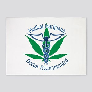 Medicla Marijuana Doctor Recommended 5'x7'Area Rug