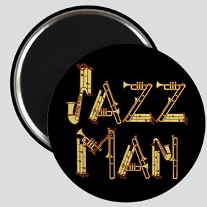 Jazz man saxophone sax Magnet
