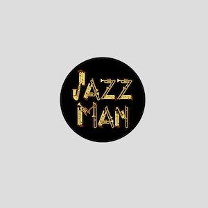 Jazz man saxophone sax Mini Button