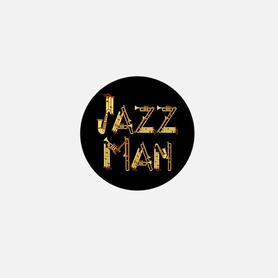 Jazz man saxophone sax Mini Button