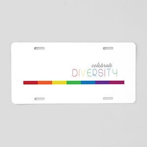 Celebrate Diversity Aluminum License Plate