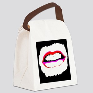 Abstract Smile Canvas Lunch Bag
