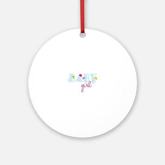 Baby Girl Ornament (Round)