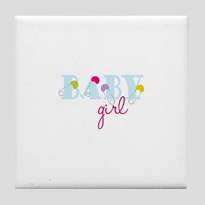 Baby Girl Tile Coaster