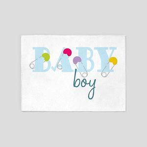 Baby Boy 5'x7'Area Rug