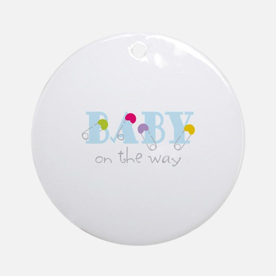 Baby On The Way Ornament (Round)