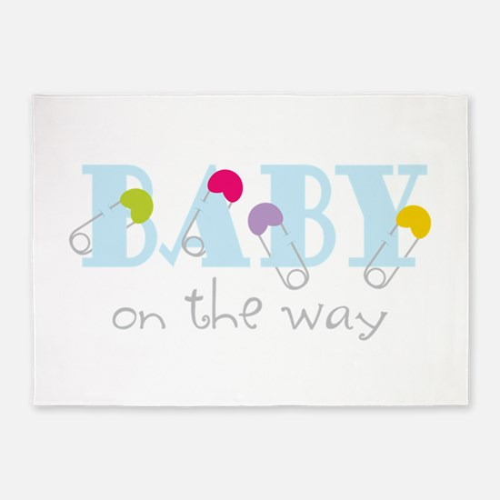 Baby On The Way 5'x7'Area Rug