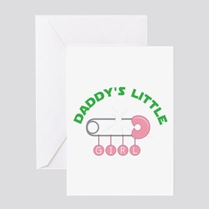 Cloth diaper greeting cards cafepress daddys little girl greeting cards m4hsunfo