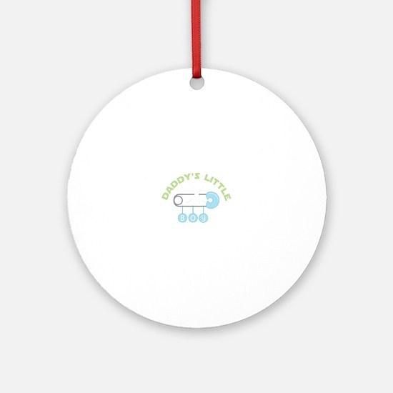 Daddys Little Boy Ornament (Round)