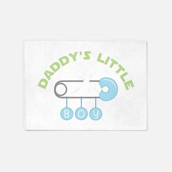 Daddys Little Boy 5'x7'Area Rug