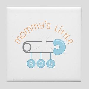 Mommys Little Boy Tile Coaster