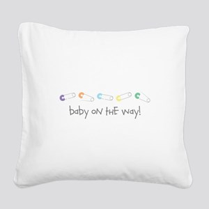 Baby On The Way Square Canvas Pillow
