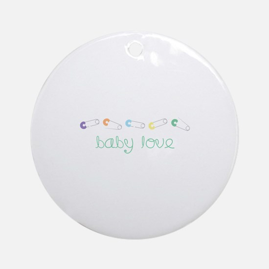 Baby Love Ornament (Round)