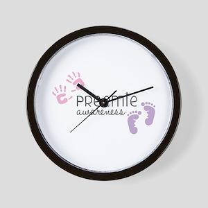 Preemie Awareness Wall Clock