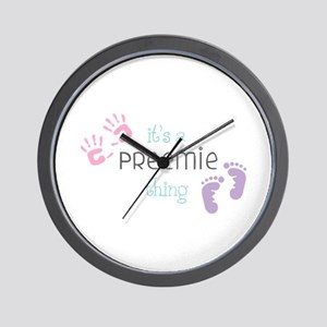 A Preemie Thing Wall Clock