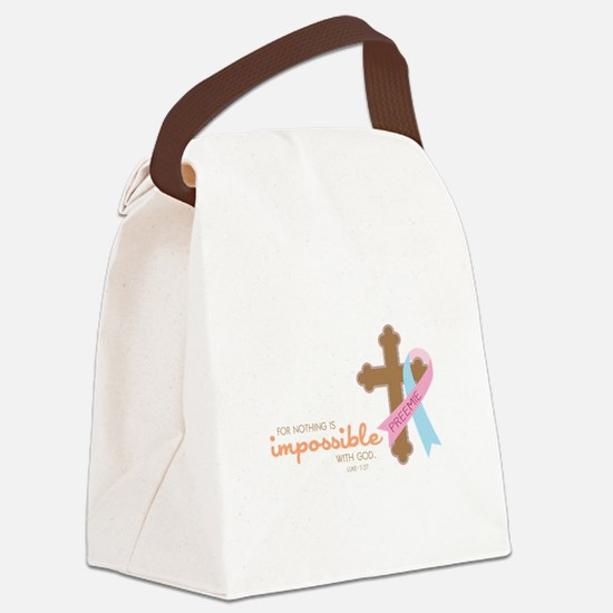 Nothing Is Impossible with God Canvas Lunch Bag