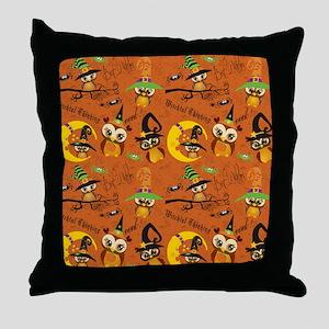 Halloween Owls 2 Throw Pillow
