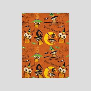 Halloween Owls 2 5'x7'Area Rug