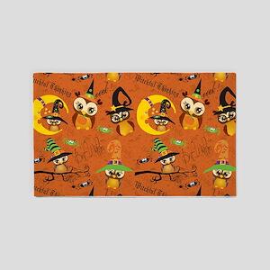 Halloween Owls 2 3'x5' Area Rug