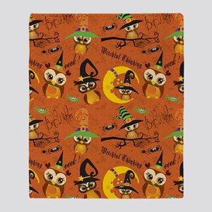 Halloween Owls 2 Throw Blanket