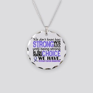 Stomach Cancer HowStrongWeAr Necklace Circle Charm