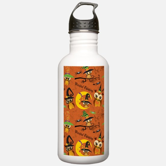 Halloween Owls 2 Water Bottle