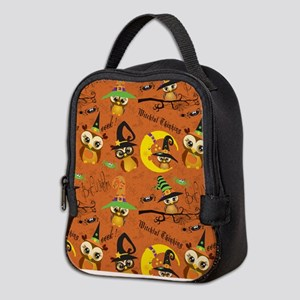 Halloween Owls 2 Neoprene Lunch Bag
