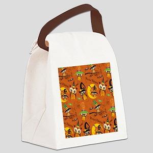 Halloween Owls 2 Canvas Lunch Bag