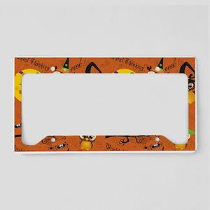Halloween Owls 2 License Plate Holder