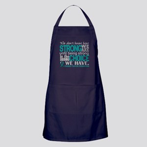 Ovarian Cancer HowStrongWeAre Apron (dark)