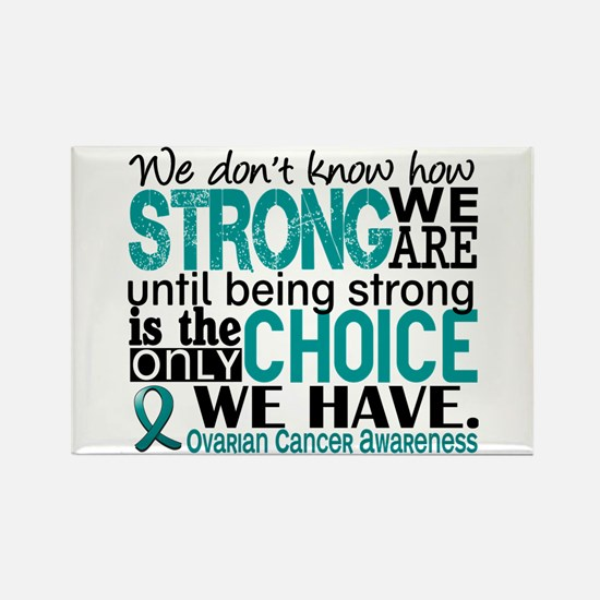 Ovarian Cancer HowStrongWeAre Rectangle Magnet
