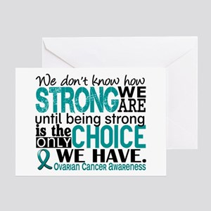 Ovarian Cancer HowStrongWeAre Greeting Card