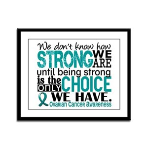 Ovarian Cancer HowStrongWeAre Framed Panel Print