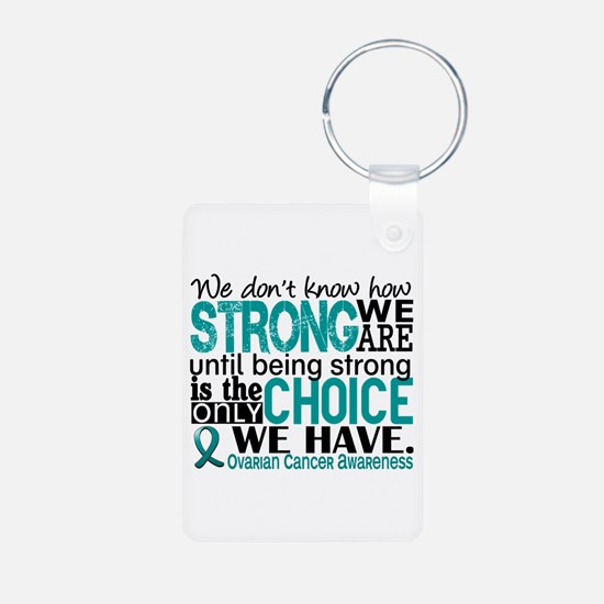 Ovarian Cancer HowStrongWe Aluminum Photo Keychain