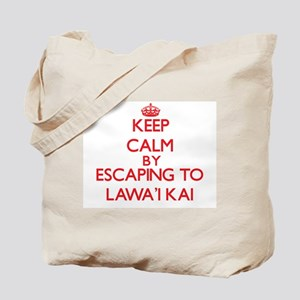 Keep calm by escaping to LawaI Kai Hawaii Tote Bag