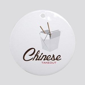 Chinese Takeout Ornament (Round)