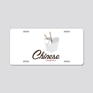 Chinese Takeout Aluminum License Plate