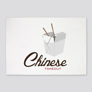 Chinese Takeout 5'x7'Area Rug