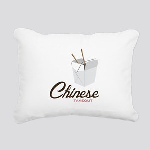 Chinese Takeout Rectangular Canvas Pillow