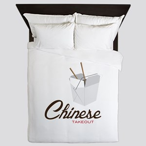 Chinese Takeout Queen Duvet