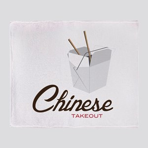 Chinese Takeout Throw Blanket